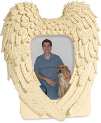 Casket: Guardian Angel Wings Photo Frame