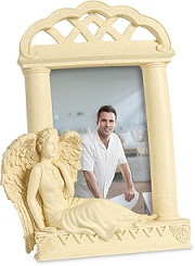 Casket: Reflection Angel Memory Photo Frame