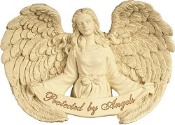 Casket: Wall Hanging - Protected by Angels