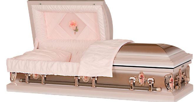 Casket: Cameo Rose Custom Designed Steel Casket