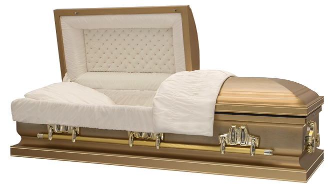 Casket: ROYAL AUTUMN GOLD Steel Casket