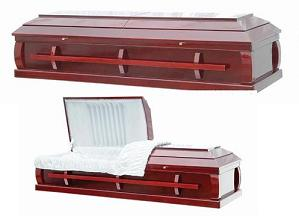 Casket: SUNSET - All Wood Cremation Veneer Casket