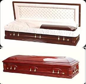 Wood Caskets - FULL COUCH DESIGN Casket
