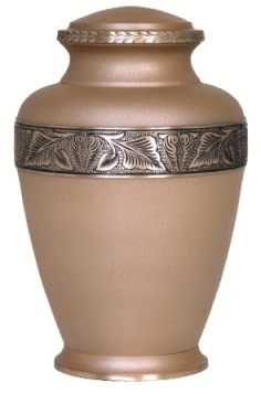 Photo of Sand Blasted Finished Brass Urn Urn