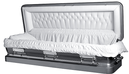 Casket: LIBERTY ROYALE SILVER Full Couch Steel Casket