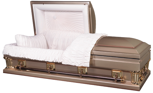 Casket: Franklin Gold Oversize-either 27.5 inch or 30.5 in Interior