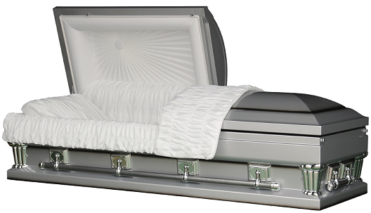 Casket: Franklin Silver Oversize - in either 27.5 inches or 30.5 inches