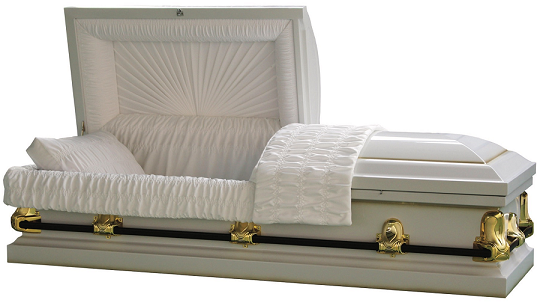 Casket: Galaxy White/Gold Steel Casket