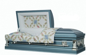 Casket: Wedding Rings Quilt Steel Casket