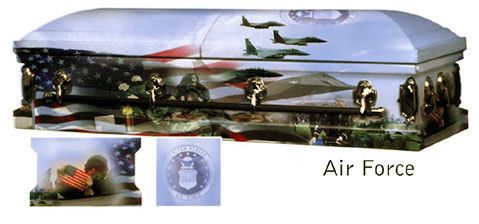 AIR FORCE VETERAN ART CASKET